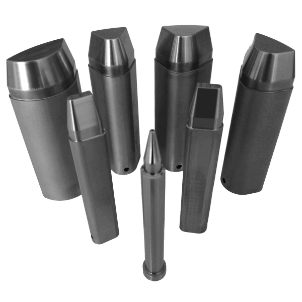 Stemple do wykrawania ze stali